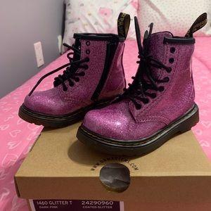 Pink Glitter Dr. Marten boots